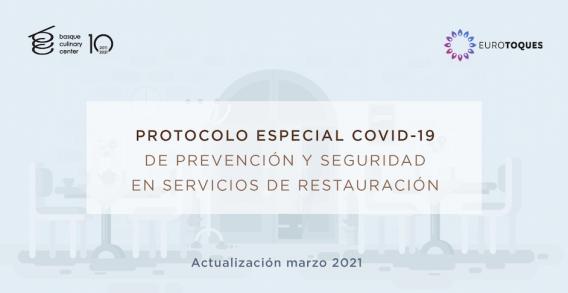 Jatetxeetako zerbitzuentzako segurtasunerako eta prebentziorako COVID-19 Protokolo Berezia